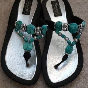 daf61ca49a32eb Women s Sandals With Turquoise Stones on Poshmark